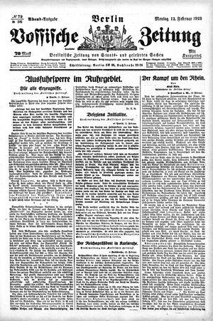 Vossische Zeitung on Feb 12, 1923