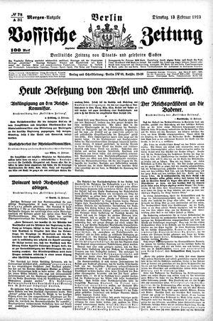 Vossische Zeitung vom 13.02.1923