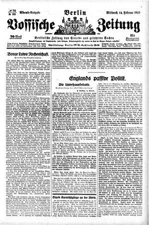 Vossische Zeitung vom 14.02.1923