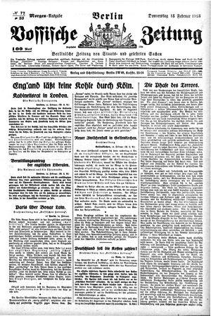Vossische Zeitung vom 15.02.1923