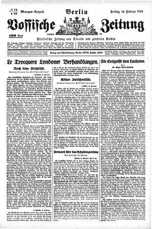 Vossische Zeitung on Feb 16, 1923