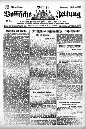 Vossische Zeitung vom 17.02.1923