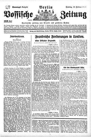 Vossische Zeitung vom 18.02.1923