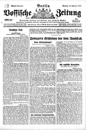 Vossische Zeitung vom 19.02.1923