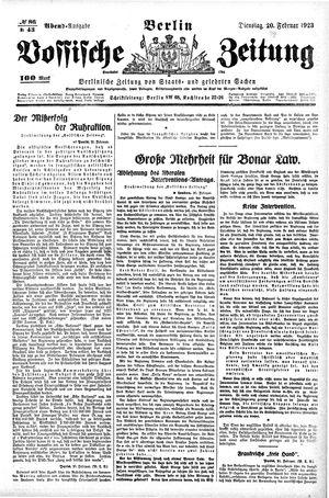Vossische Zeitung vom 20.02.1923