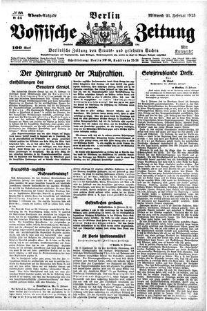 Vossische Zeitung vom 21.02.1923