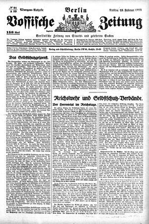 Vossische Zeitung vom 23.02.1923