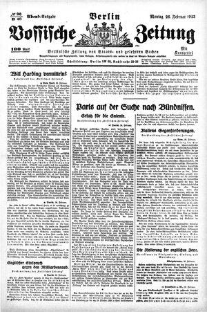 Vossische Zeitung vom 26.02.1923