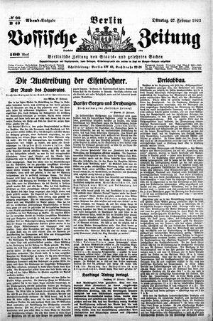 Vossische Zeitung on Feb 27, 1923