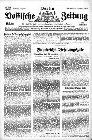 Vossische Zeitung vom 28.02.1923