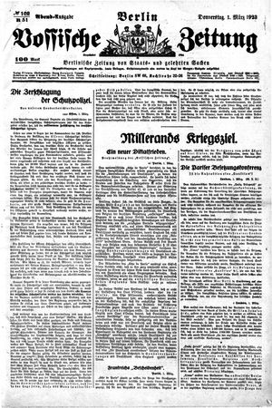 Vossische Zeitung vom 01.03.1923