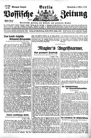 Vossische Zeitung on Mar 3, 1923