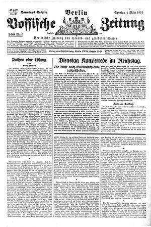 Vossische Zeitung vom 04.03.1923