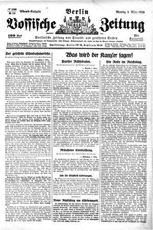 Vossische Zeitung vom 05.03.1923