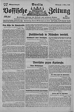 Vossische Zeitung vom 07.03.1923