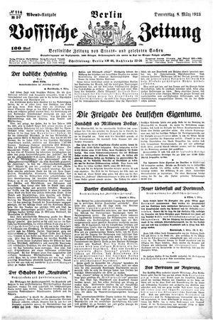 Vossische Zeitung on Mar 8, 1923