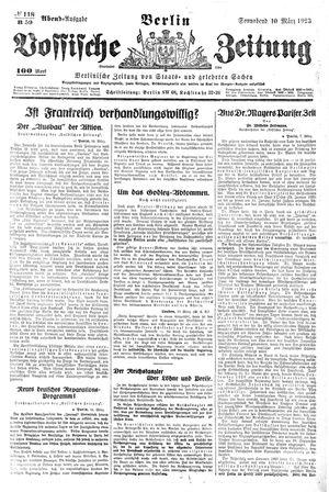 Vossische Zeitung vom 10.03.1923