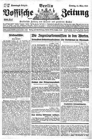 Vossische Zeitung vom 11.03.1923