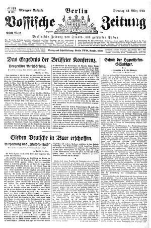 Vossische Zeitung vom 13.03.1923