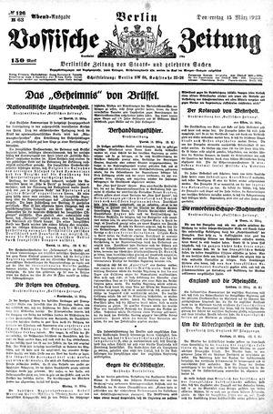 Vossische Zeitung vom 15.03.1923