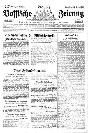 Vossische Zeitung vom 17.03.1923