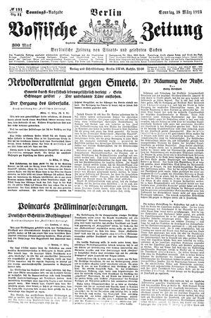 Vossische Zeitung vom 18.03.1923