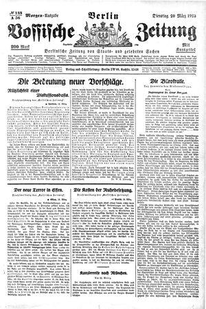 Vossische Zeitung vom 20.03.1923