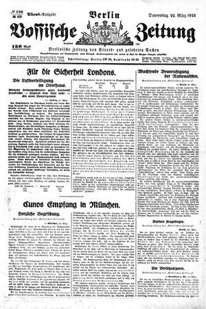Vossische Zeitung vom 22.03.1923