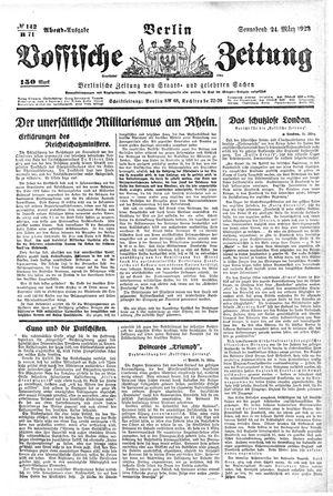 Vossische Zeitung vom 24.03.1923