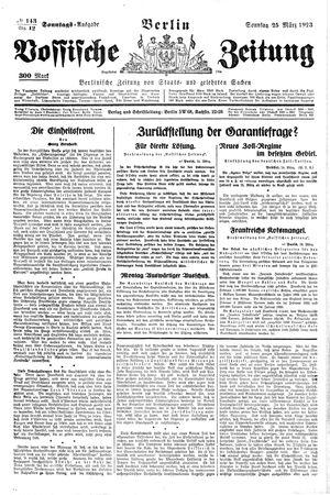 Vossische Zeitung vom 25.03.1923
