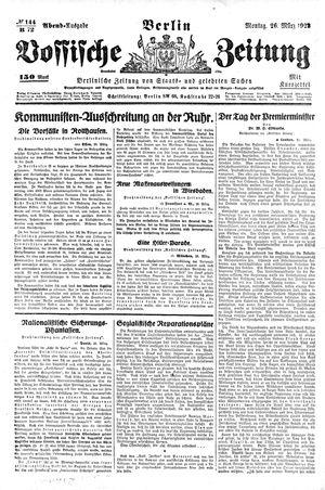 Vossische Zeitung vom 26.03.1923