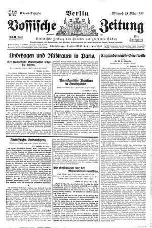 Vossische Zeitung vom 28.03.1923