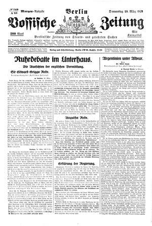 Vossische Zeitung vom 29.03.1923