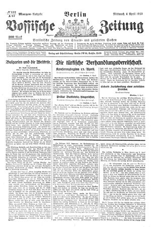 Vossische Zeitung vom 04.04.1923