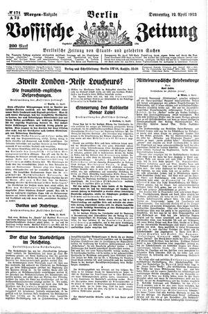 Vossische Zeitung vom 12.04.1923