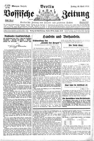 Vossische Zeitung vom 13.04.1923
