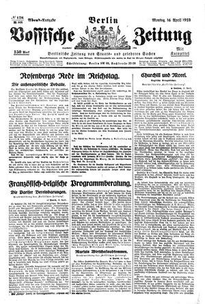 Vossische Zeitung vom 16.04.1923
