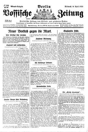 Vossische Zeitung vom 18.04.1923