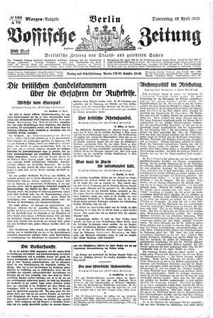 Vossische Zeitung vom 19.04.1923