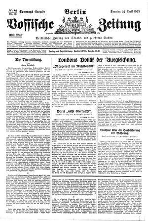 Vossische Zeitung vom 22.04.1923