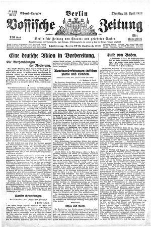 Vossische Zeitung vom 24.04.1923