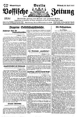 Vossische Zeitung vom 25.04.1923
