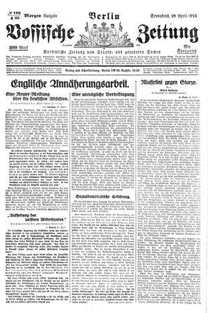 Vossische Zeitung vom 28.04.1923