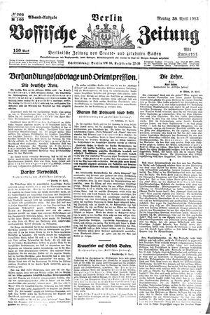 Vossische Zeitung vom 30.04.1923