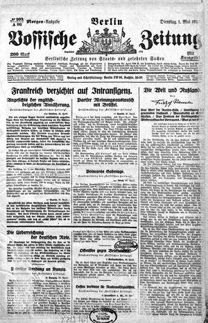 Vossische Zeitung vom 01.05.1923