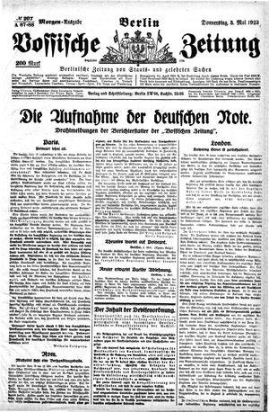 Vossische Zeitung vom 03.05.1923