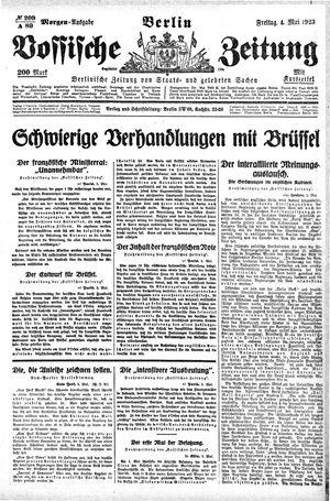 Vossische Zeitung vom 04.05.1923