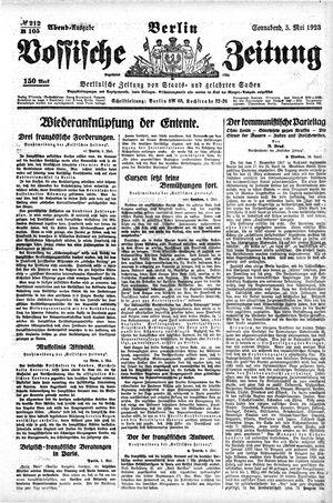 Vossische Zeitung vom 05.05.1923