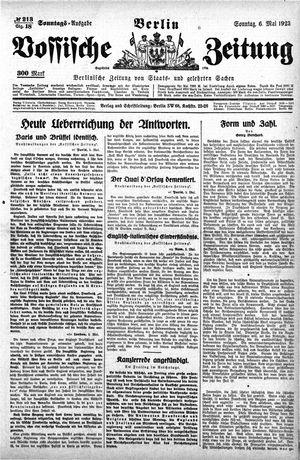 Vossische Zeitung vom 06.05.1923