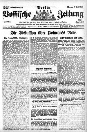 Vossische Zeitung vom 07.05.1923